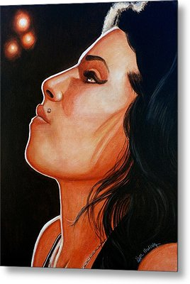 Metal Print featuring the painting Unforgettable Amy by Al  Molina