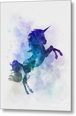 Unicorn Metal Print by Rebecca Jenkins