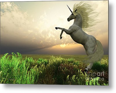 Unicorn Stag Metal Print by Corey Ford