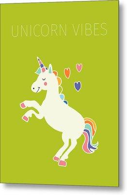 Unicorn Vibes Metal Print by Nicole Wilson