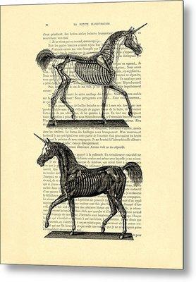 Unicorns Anatomy Metal Print