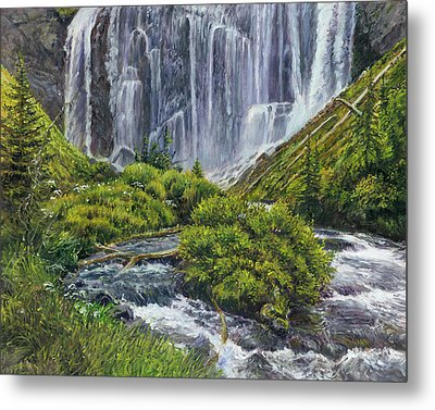 Union Falls Metal Print by Steve Spencer