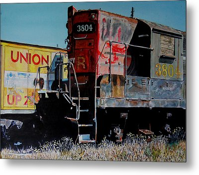 Metal Print featuring the painting Union by Gail Chandler