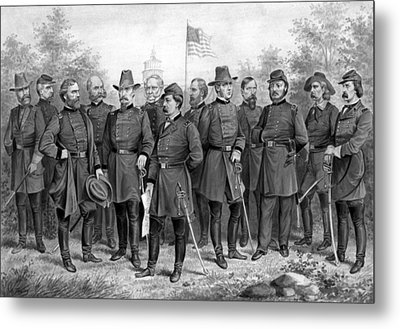 Union Generals Of The Civil War  Metal Print by War Is Hell Store