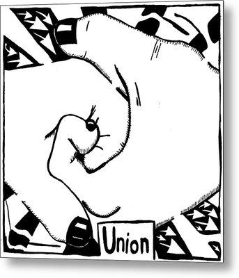 Union Maze Metal Print by Yonatan Frimer Maze Artist