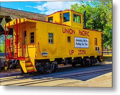 Union Pacific Caboose Metal Print by Garry Gay