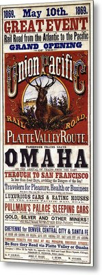 Union Pacific Railroad Opens The West - May 10, 1869 Metal Print by Daniel Hagerman