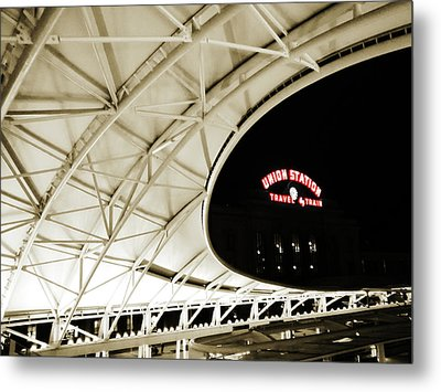 Metal Print featuring the photograph Union Station Denver by Marilyn Hunt