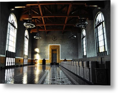 Metal Print featuring the photograph Union Station Los Angeles by Kyle Hanson