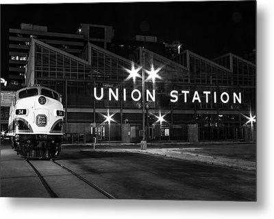 Union Station Night Glow Metal Print