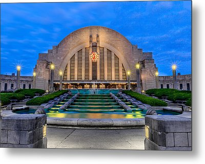 Union Terminal At Sunrise II Metal Print