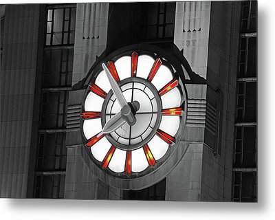 Union Terminal Clock Metal Print by Russell Todd
