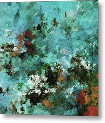 Metal Print featuring the painting Unique Abstract Art / Landscape Painting by Ayse Deniz