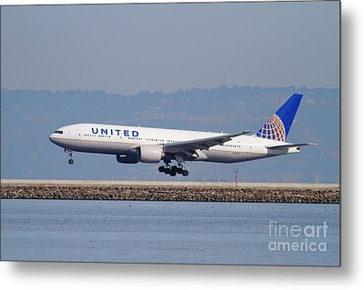 United Airlines Jet Airplane . 7d11794 Metal Print by Wingsdomain Art and Photography