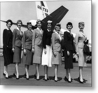 United Airlines Stewardesses Model Metal Print