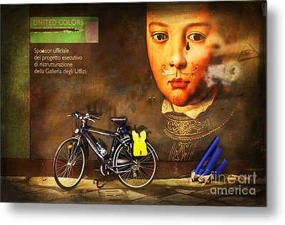 Metal Print featuring the photograph United Colors Bicycle by Craig J Satterlee