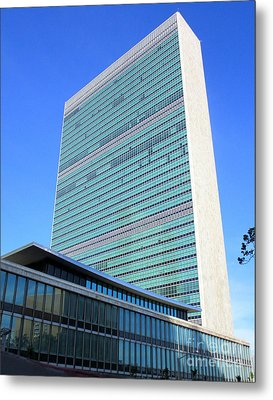 Metal Print featuring the photograph United Nations 1 by Randall Weidner