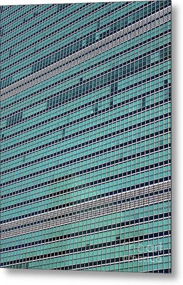 Metal Print featuring the photograph United Nations 2 by Randall Weidner