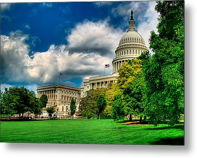 United States Capital House Side Metal Print