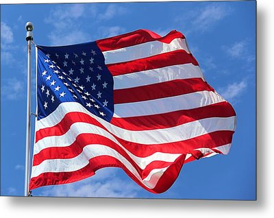 Metal Print featuring the photograph United States Flag by Elizabeth Budd
