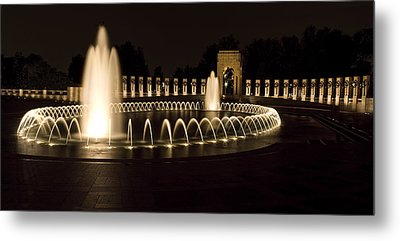 United States National World War II Memorial In Washington Dc Metal Print by Brendan Reals