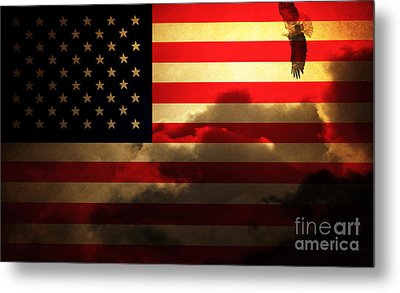 United States Of America . Land Of The Free Metal Print by Wingsdomain Art and Photography