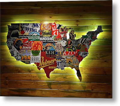 United States Wall Art Metal Print