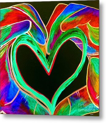 Universal Sign For Love Metal Print