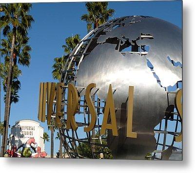 Universal Studios Globe Metal Print by Jeff Lowe