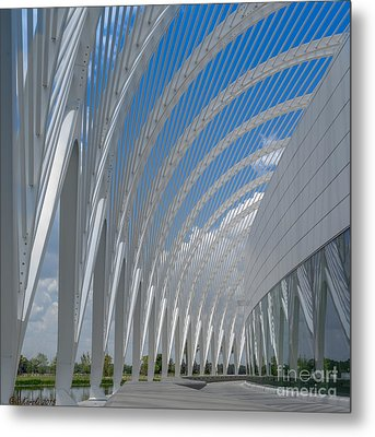 University Arching Lines Metal Print