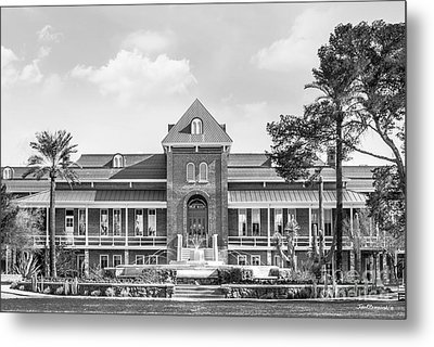 University Of Arizona Old Main With Fountain Metal Print by University Icons