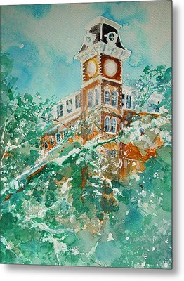 Ice On Old Main Metal Print by Robin Miller-Bookhout