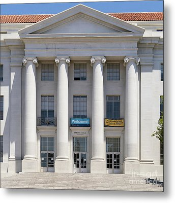 University Of California Berkeley Historic Sproul Hall At Sproul Plaza Dsc4081 Square Metal Print by Wingsdomain Art and Photography