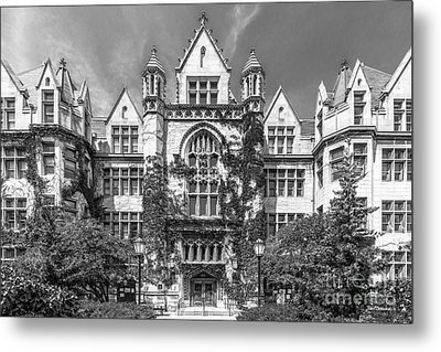 University Of Chicago Cobb Hall Metal Print by University Icons
