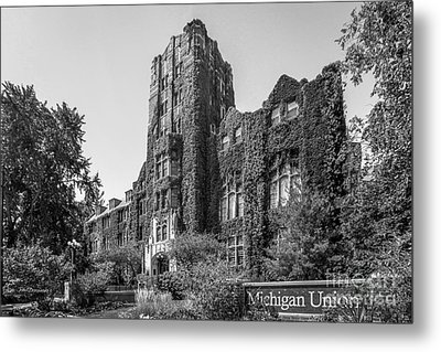 University Of Michigan Michigan Union Metal Print by University Icons