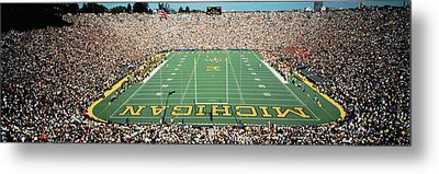 University Of Michigan Stadium, Ann Metal Print by Panoramic Images