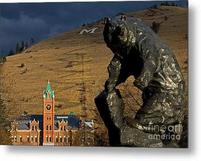 University Of Montana Icons Metal Print by Katie LaSalle-Lowery
