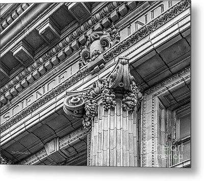 University Of Pennsylvania Column Detail Metal Print by University Icons