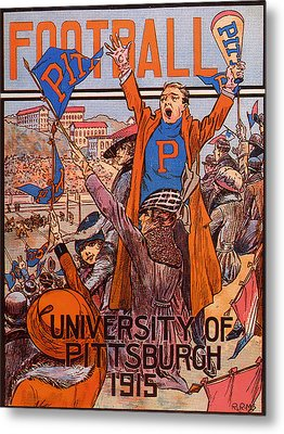 University Of Pittsburgh  Football Program 1915 Metal Print by Mountain Dreams