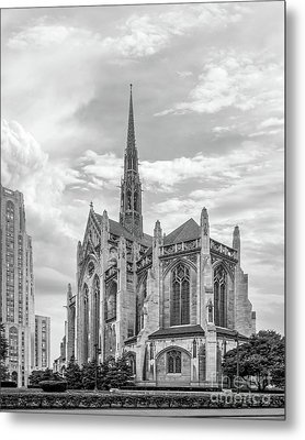 University Of Pittsburgh Heinz Memorial Chapel Metal Print by University Icons