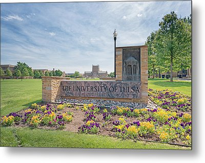 University Of Tulsa Mcfarlin Library Metal Print