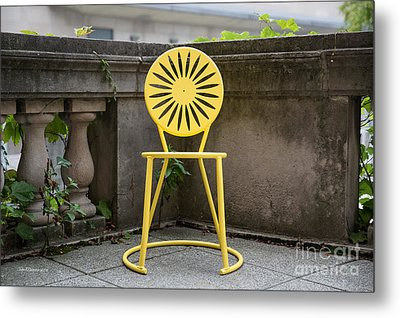 University Of Wisconsin Madison Terrace Chair Color Metal Print by University Icons