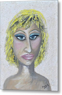 Unnatural Blonde Metal Print