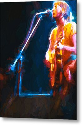 Metal Print featuring the painting Unplugged by Bob Orsillo