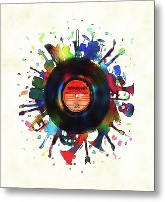 Unplugged Metal Print by Mustafa Akgul