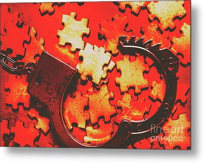 Unsolved Crime Metal Print by Jorgo Photography - Wall Art Gallery