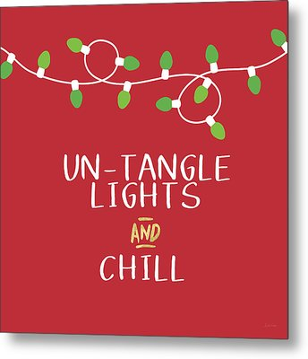 Untangle Lights And Chill- Art By Linda Woods Metal Print