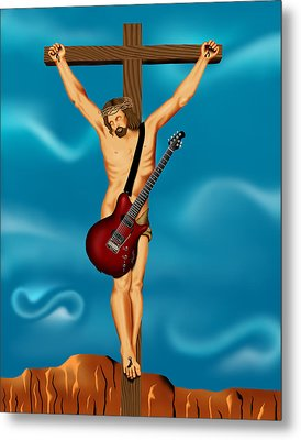 Until There Was Rock You Only Had God Metal Print