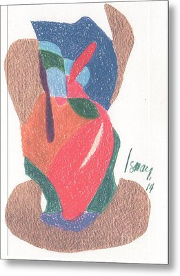 Metal Print featuring the drawing Untitled Abstract by Rod Ismay