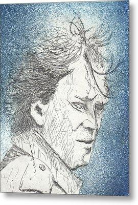 Untitled, Blue Metal Print by Erik Paul